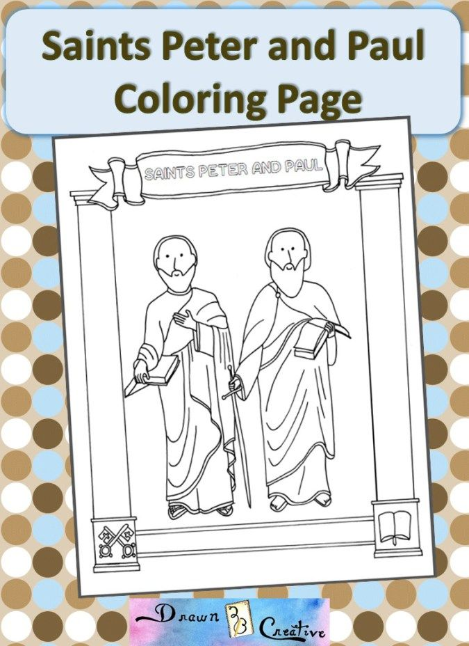 Saints Peter And Paul Coloring Page St Peter Paul Coloring