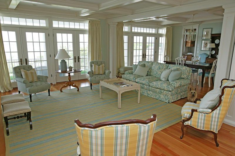 Love The Wall Of Windows And Doors To The Porch Mally Skok Design   Interior  Designer · Cape Cod ...