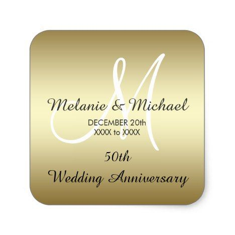 Superior Gold 50th Wedding Anniversary Stickers | Wedding Anniversary, Anniversaries  And Wedding