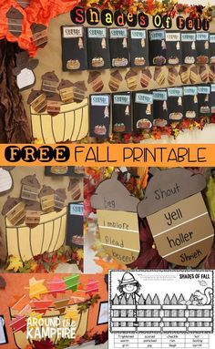 Shades Of Fall And A Freebie Pinterest Speech Therapy Activities