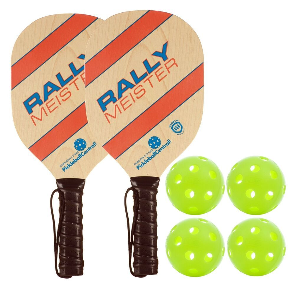 Wooden Paddle and Ball Set Beach and Garden Toy Tennis Game 2 Rackets /& Ball NEW