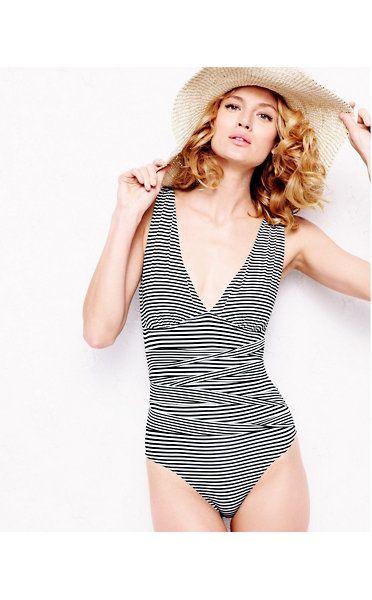 750b1e335e77b Garnet Hill Retro Ruched One-Piece Swimsuit   Fashion Feng Shui ...
