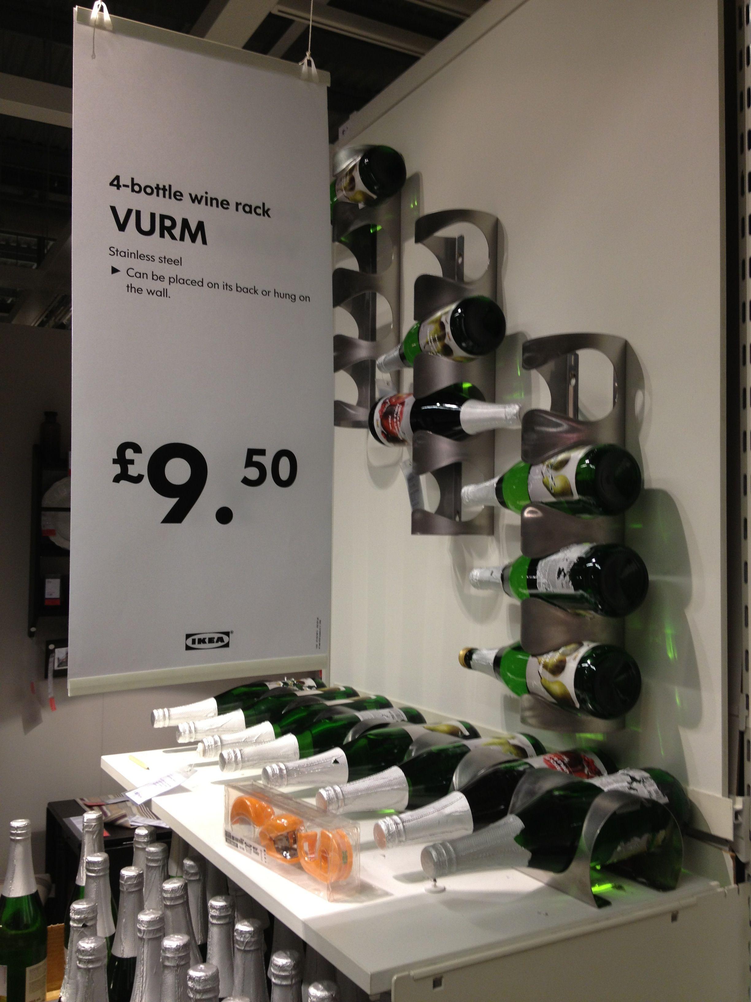 Wall mounted wine racks IKEA Wine glass rack, Wine rack