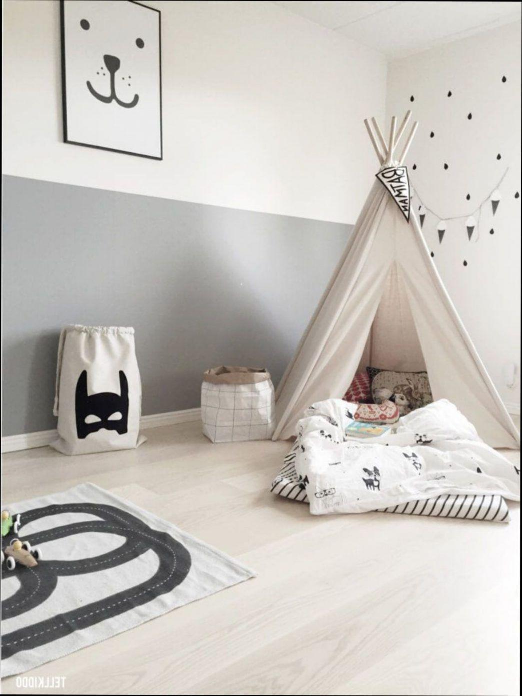 chambre deco tipi decoration fille gris et rose scandinave pour
