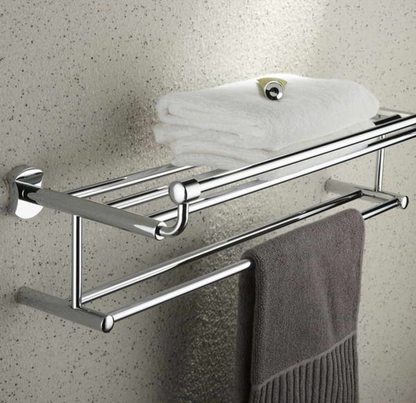 Towel Racks For Bathrooms With Towel Grey With Images Towel