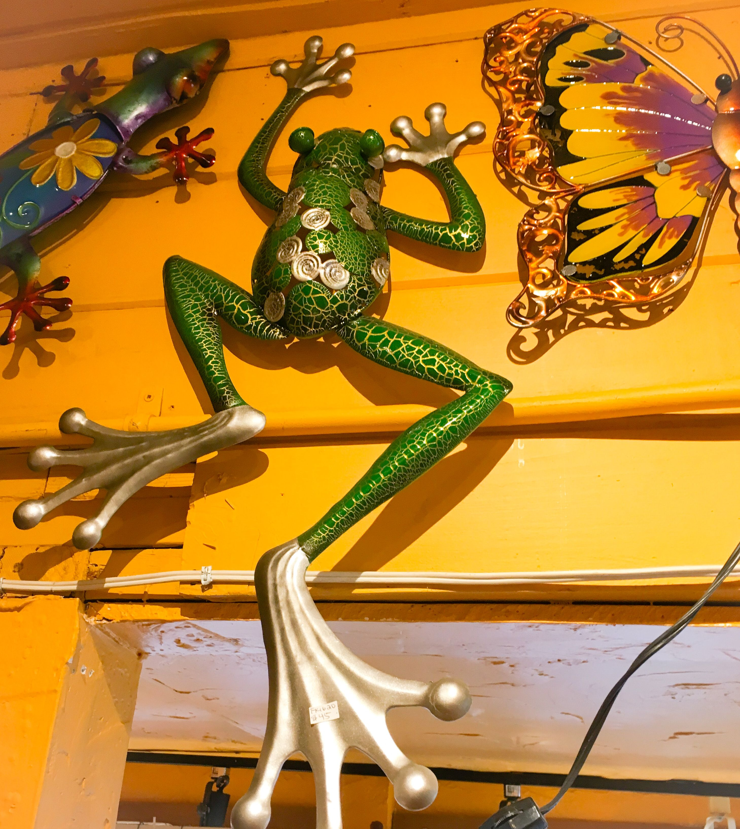 Metal wall Art - Frogs, Lizards & Butterflies @ CasaLifestyles.com ...