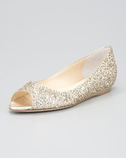 Thinking about going with a champagne flat (Jimmy Choo)
