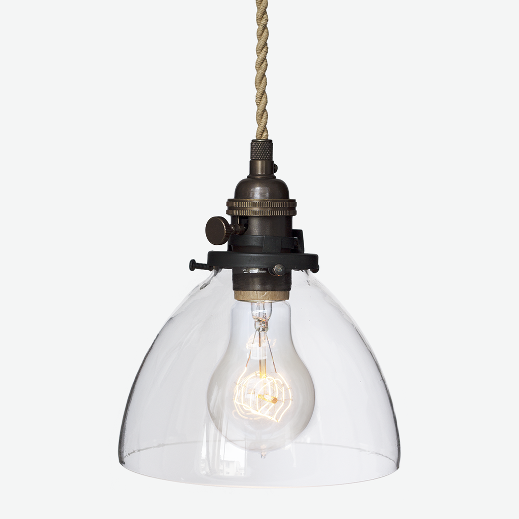 Hand N 6 Clear Gl Pendant Light Ship Rope Cord