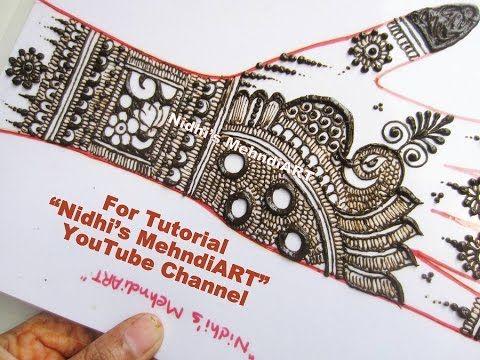 Mehndi Peacock Designs Drawings : Youtube full hand bridal indian pakistani mehndi henna design