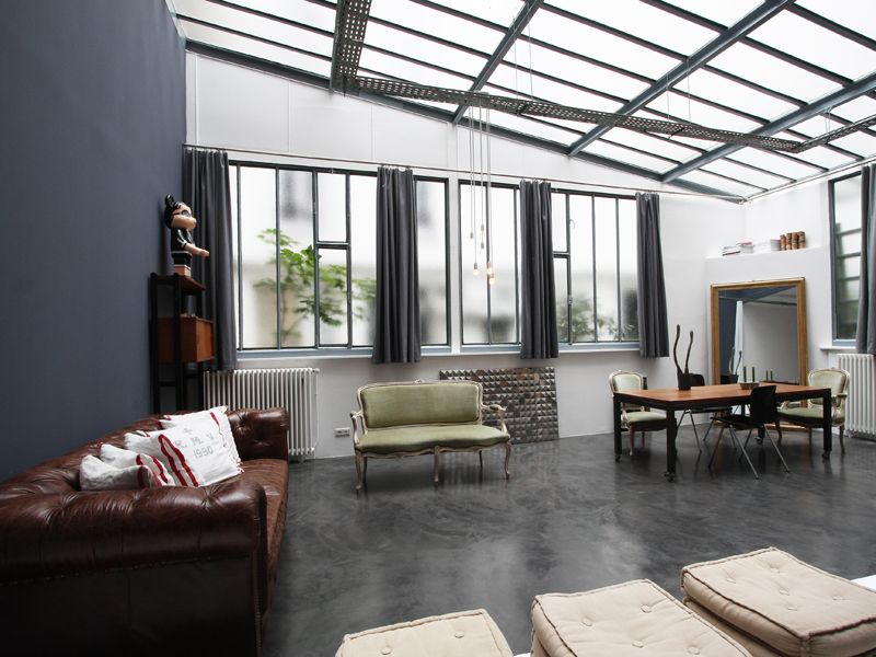 paris loft sous verri re sur cour fleurie verrri res ateliers etv randas en 2019 pinterest. Black Bedroom Furniture Sets. Home Design Ideas