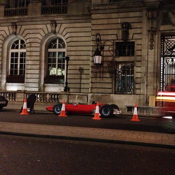 Beautiful old Ferrari being delivered to the Royal Automobile Club #takenbyPaul