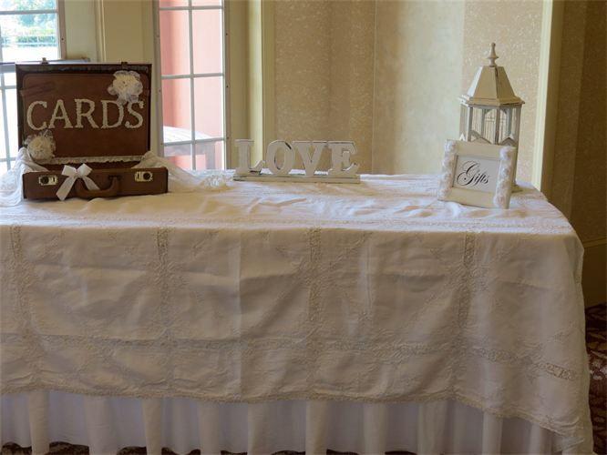 Shabby chic wedding gift table decor items used vintage shabby chic wedding gift table decor items used vintage overlay vintage card rustic wedding decorationsreception junglespirit Choice Image