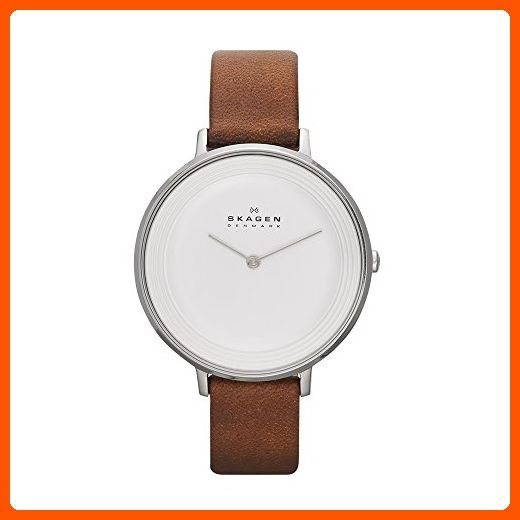 Skagen Women's SKW2214 Ditte Saddle Leather Watch - All about women (*Amazon Partner-Link)