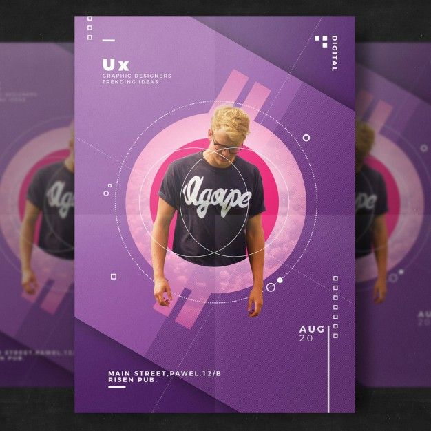Creative event flyer template Free Psd PⵙsTer Pinterest - free pamphlet templates