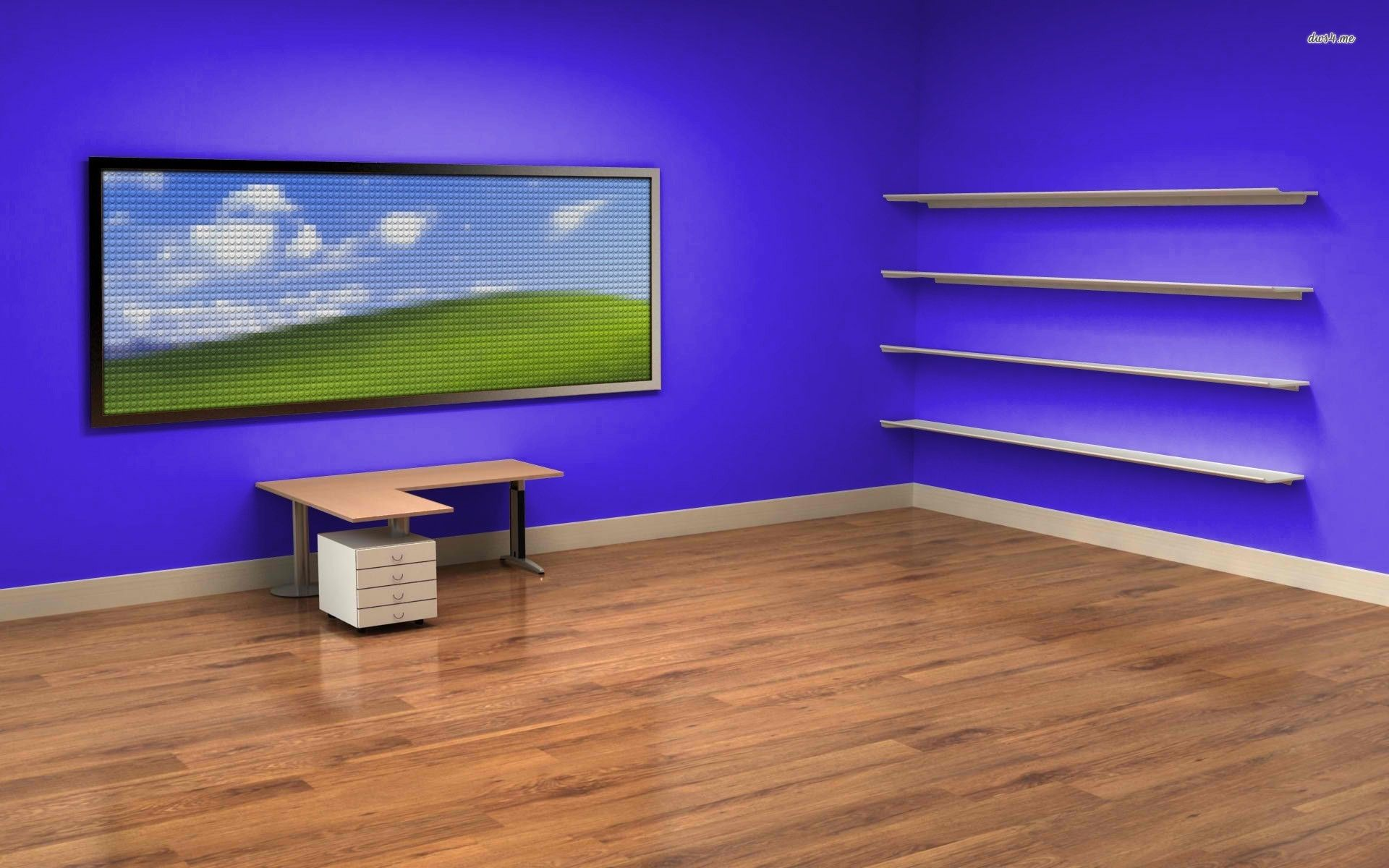 Desk and Shelves Desktop Wallpaper - WallpaperSafari ...