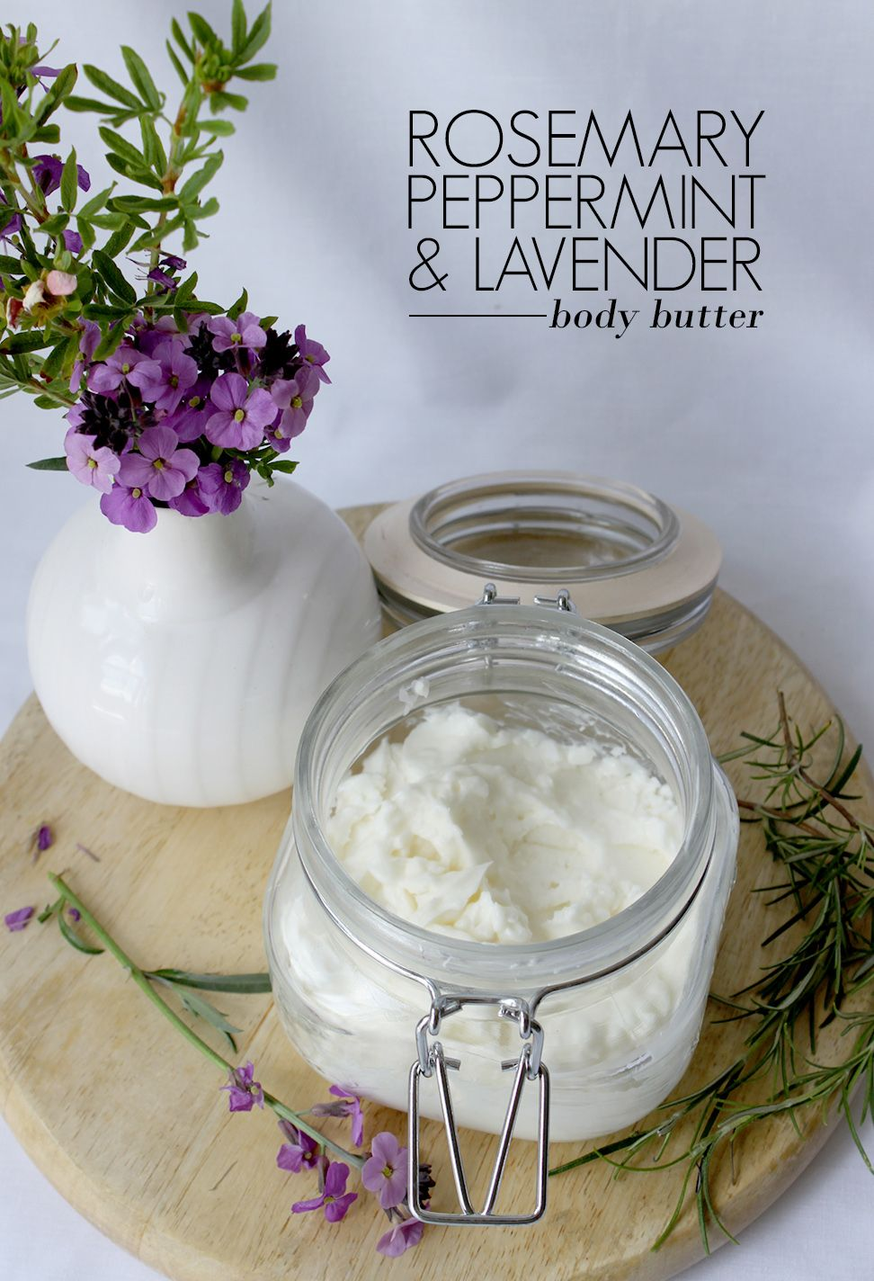 Make Your Own Rosemary Peppermint and Lavender Body Butter