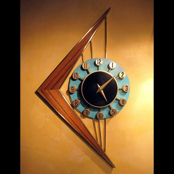 Mid Century Verichron Wall Clock Vintage Verichron Panel Clock
