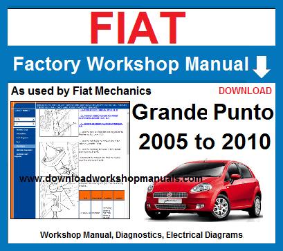 Fiat Grande Punto Workshop Repair Manual Download Fiat Grande Punto Fiat Repair Manuals