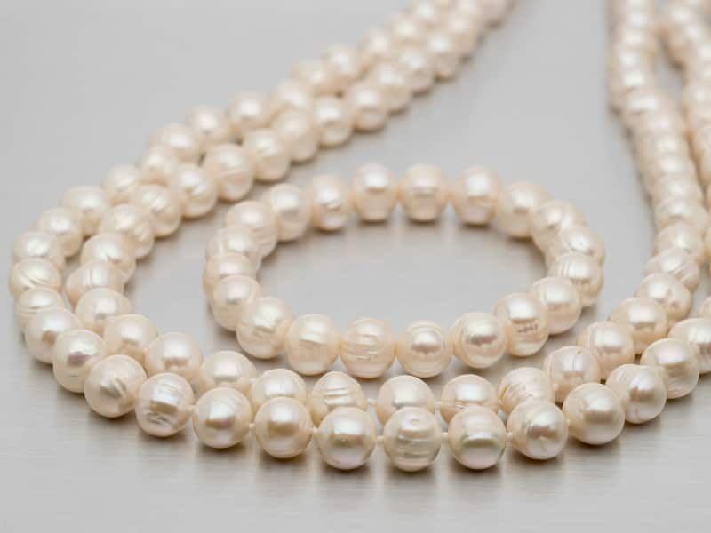 "10-12mm White Cultured Freshwater Grande Pearl 60"" Endless Strand Necklace & 8"" Stretch Bracelet Set"