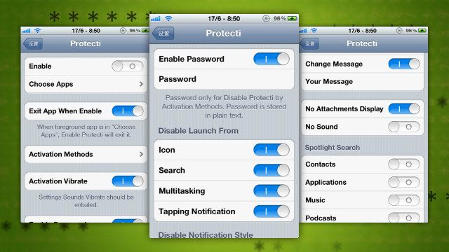 Protecti For Iphone Locks Specific Apps Hides Notifications And Disables Settings With A Gesture App Lock Apps Iphone