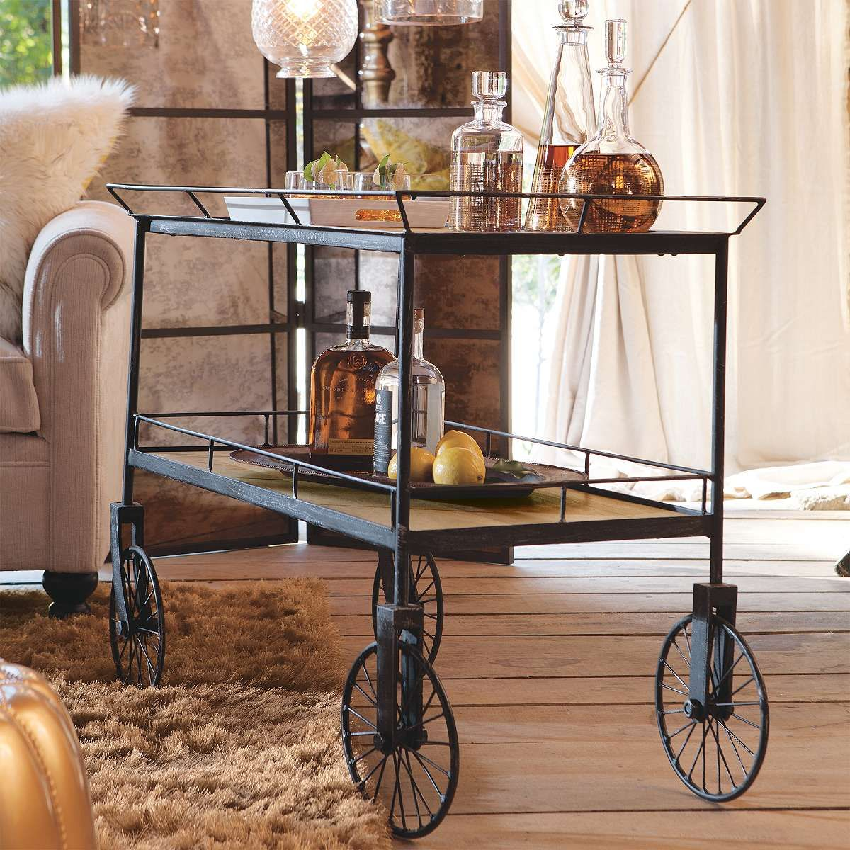 Trolley cart table david bromstad home at grandin road global trolley cart table david bromstad home at grandin road geotapseo Choice Image