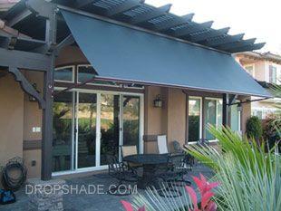 Drop Shade. 2 In 1 Patioshade/awning Patio Shades, Retractable Solar  Screens, Motorized Shades Las Vegas U0026 Dallas