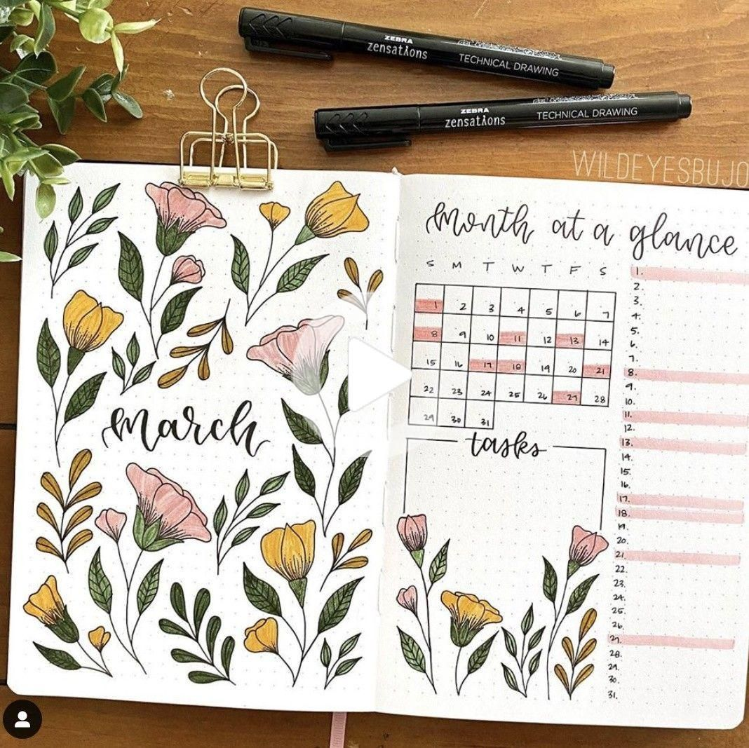 Best March Bullet Journal Ideas
