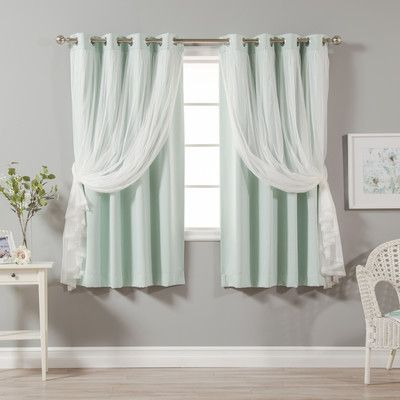 August Grove Braswell Blackout Thermal Curtain Panels Color Mint