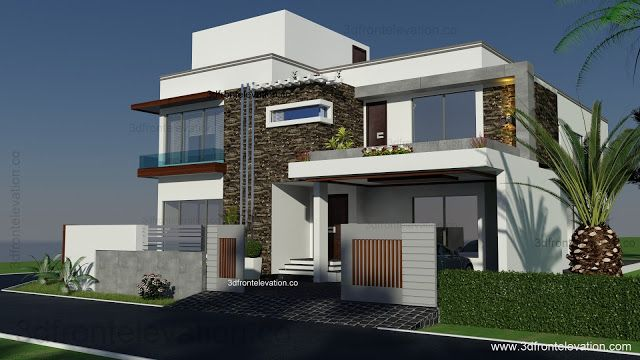3D Front Elevation.com: 500 Square Yards House Plan- 3d Front ...