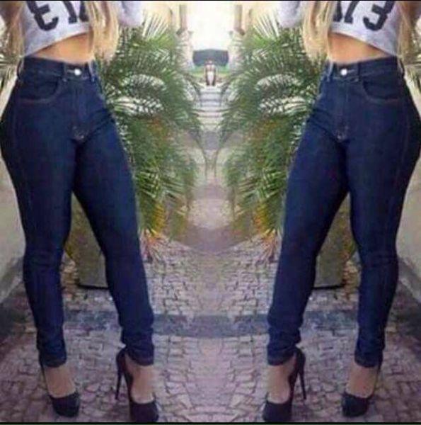 6b7bdb999 Calça jeans Hot Patns Jeans Escuro, com lycra Calça Pitbull, Calça De Cintura  Alta