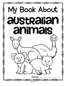 Animals from Australia Activity Printables for Preschool