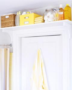 shelf over back of bathroom door great idea for unused space ideas decorating bathroom. Black Bedroom Furniture Sets. Home Design Ideas