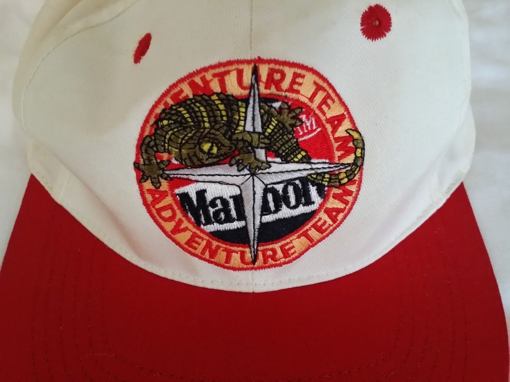 Vintage MARLBORO Adventure Team Red White Cap Adult Adjustable Snap Back  cotton #Unknown #BaseballCap