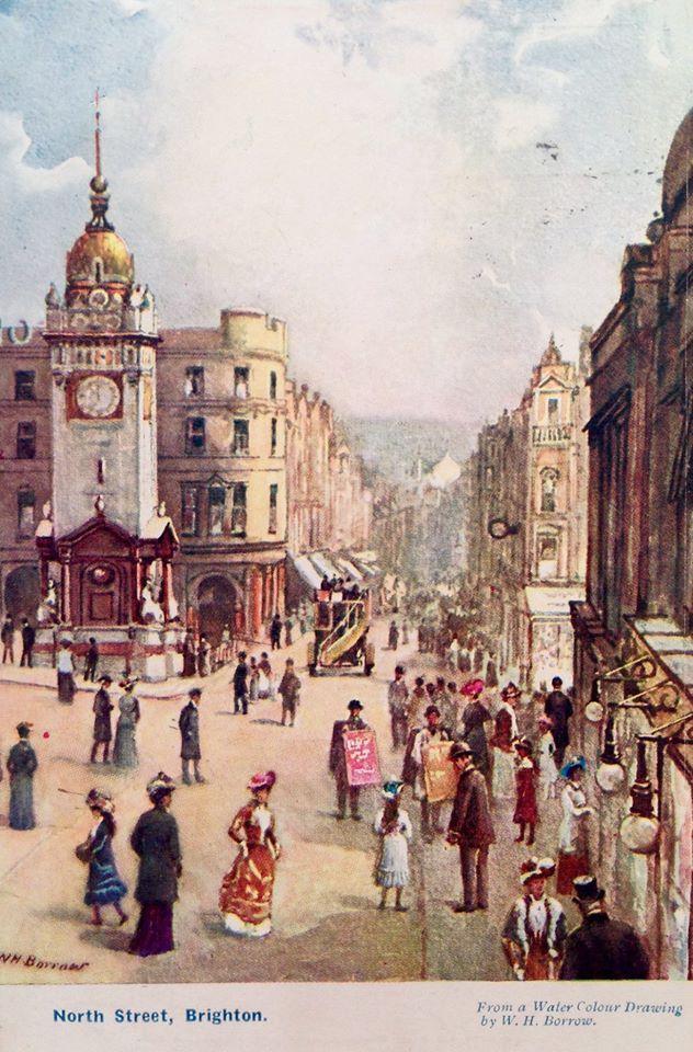 North Street by W H Borrow 1840-1905.