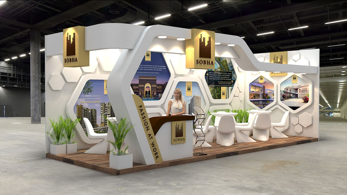 Property Exhibition Booth : Sobha ltd exhibition design for indian property show on