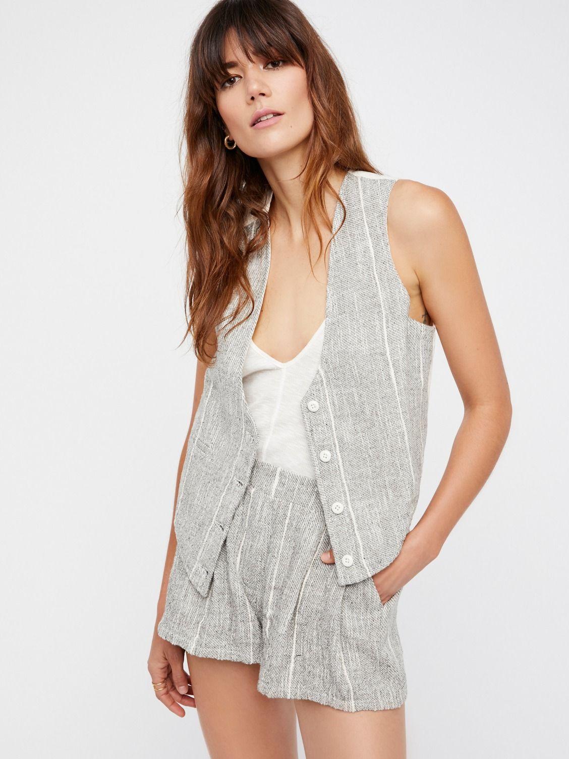 Vest u short suit at free people clothing boutique fashion