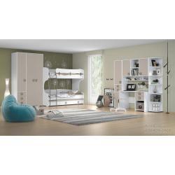 Bureau 29, Couleur: Blanc / Crème – Dimensions: 76 x 125 x 60 cm (H x L x P)