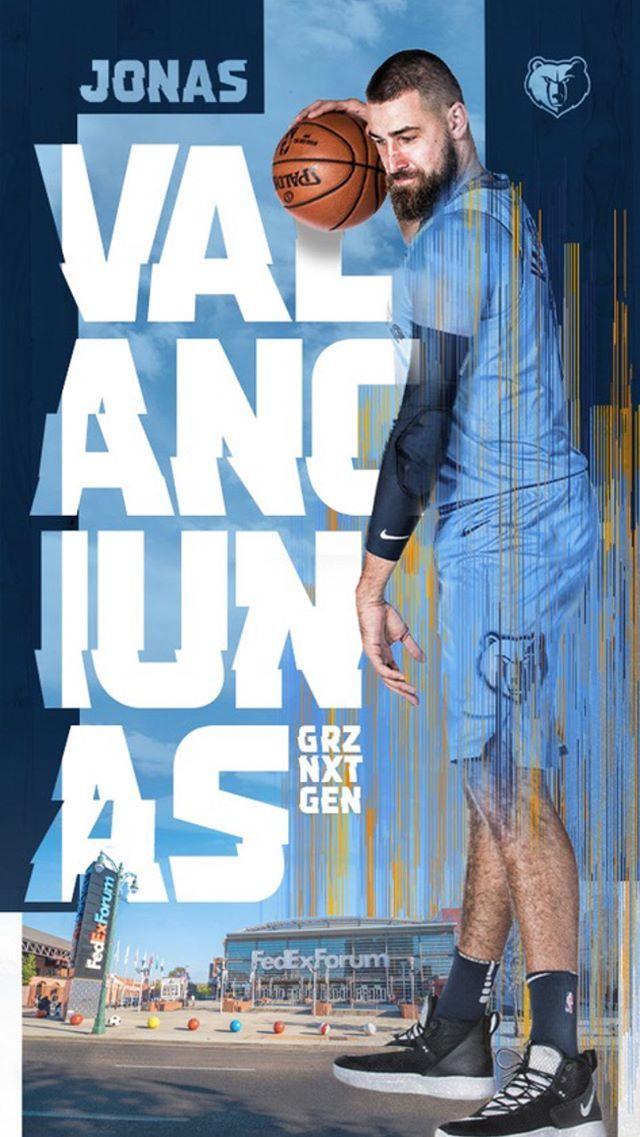 Jonas Valanciunas wallpaper in 2020 Fedexforum, Jonas
