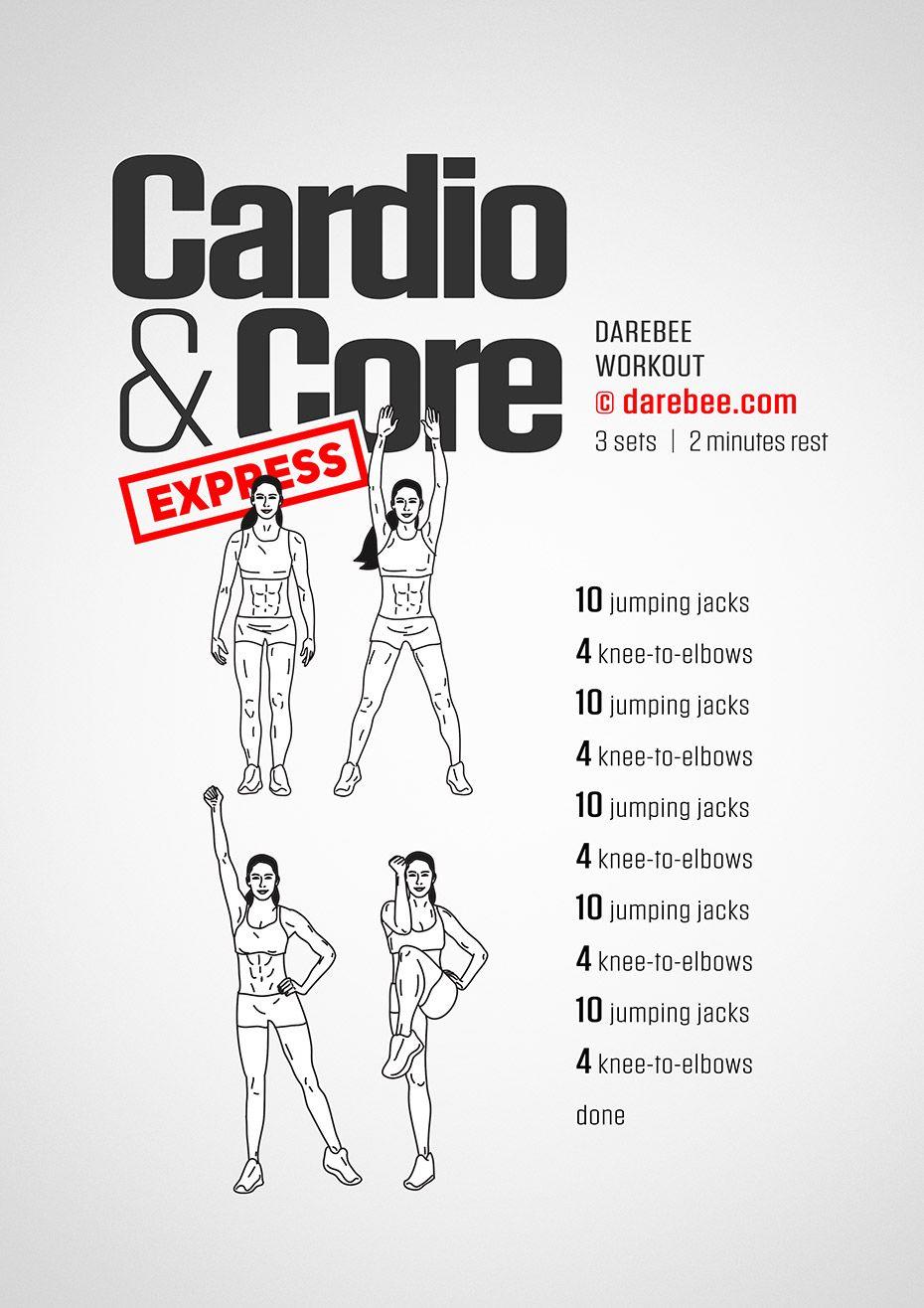Cardio Core Express Workout By Darebee Darebee Workout