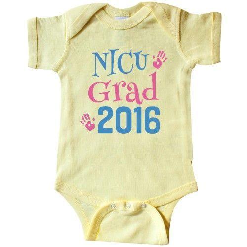 c88c2621ed0c Inktastic Nicu Grad 2016 Handprints Infant Creeper Baby Bodysuit ...