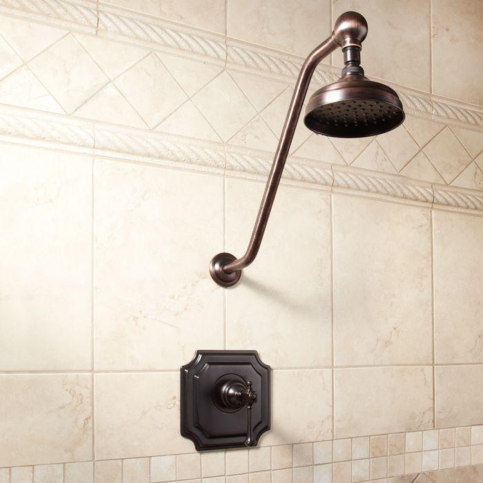 Vintage Shower Set with Lever Handle Antique Bronzelove