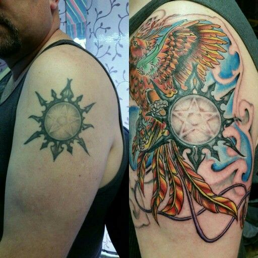 #wicca #wiccanrede #colortattoo #colorbomb #addition #phoenixtattoo #phoenix #birdtattoo #grymtat2 #artisticembracetattoo