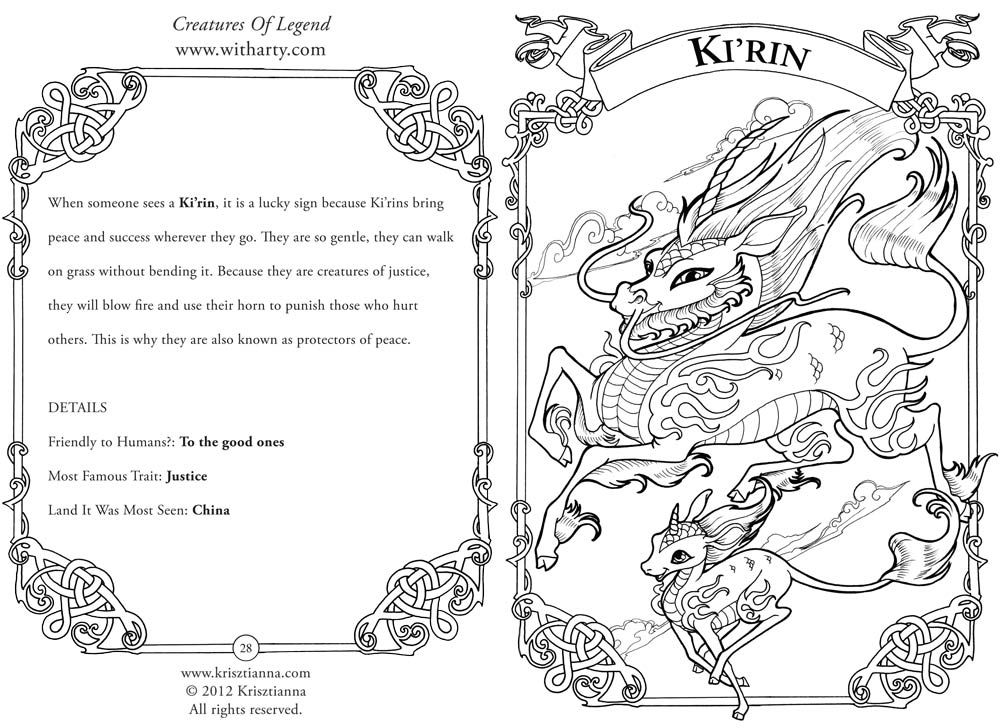 Mythological creatures coloring pages download and print for free ...