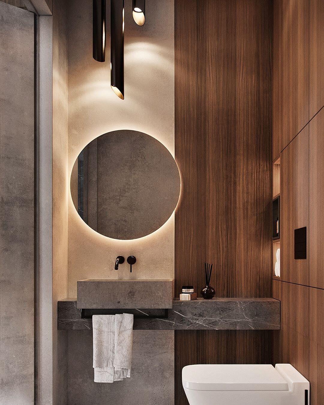 The Luxury Interior On Instagram Minimalist Modern Guest Bathroom Designed By Ato Studio In Moscow Ru Guest Bathroom Design Guest Bathroom Bathroom Interior