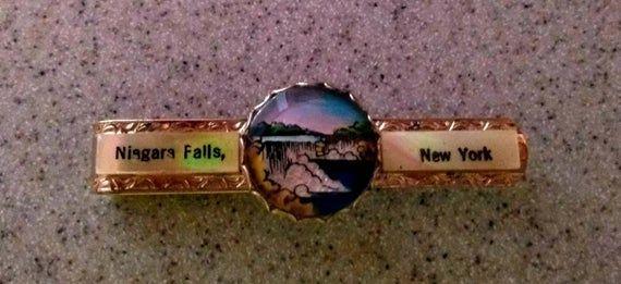 Vintage Niagara Falls, New York Tie clip #autumninnewyork