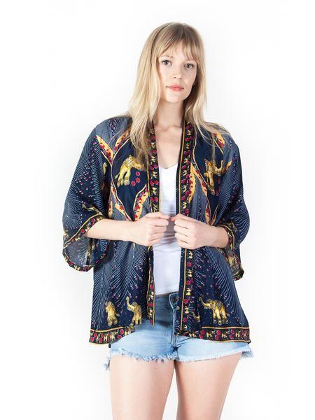 2c362e436 Rapsu Dark Blue Elephant Kimono Cardigan - The Elephant Pants - Save the  Elephants and Save 10 % use my code at Checkout! DestinyMurphy10