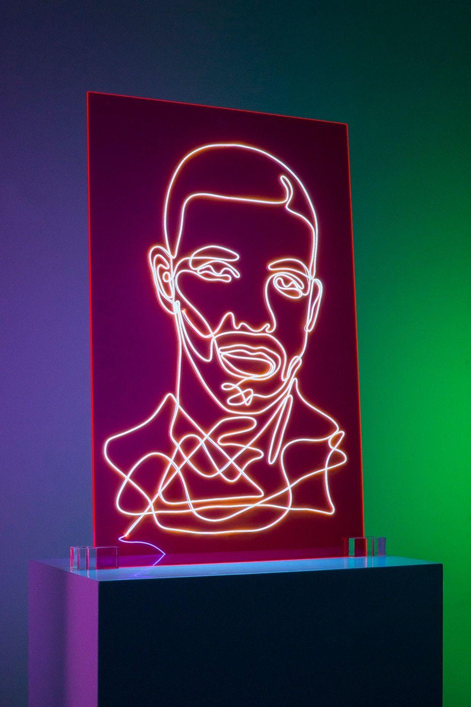 Electrifying Neon Portraits Of Rap Artists Neon Neon Signs Rap