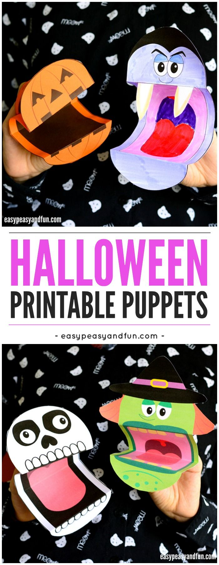 printable halloween puppets puppet free printable and activities