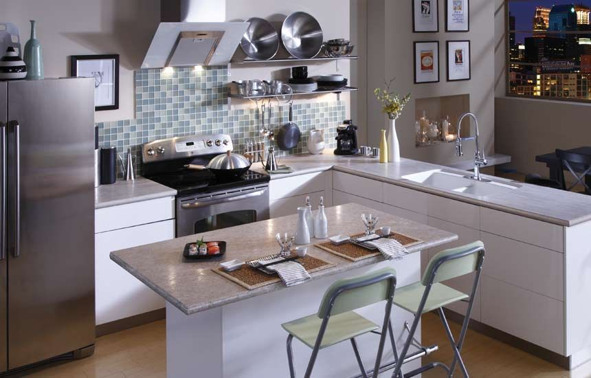 Easy And Cheap Cool Ideas Neutral Backsplash Kitchen rusted metal