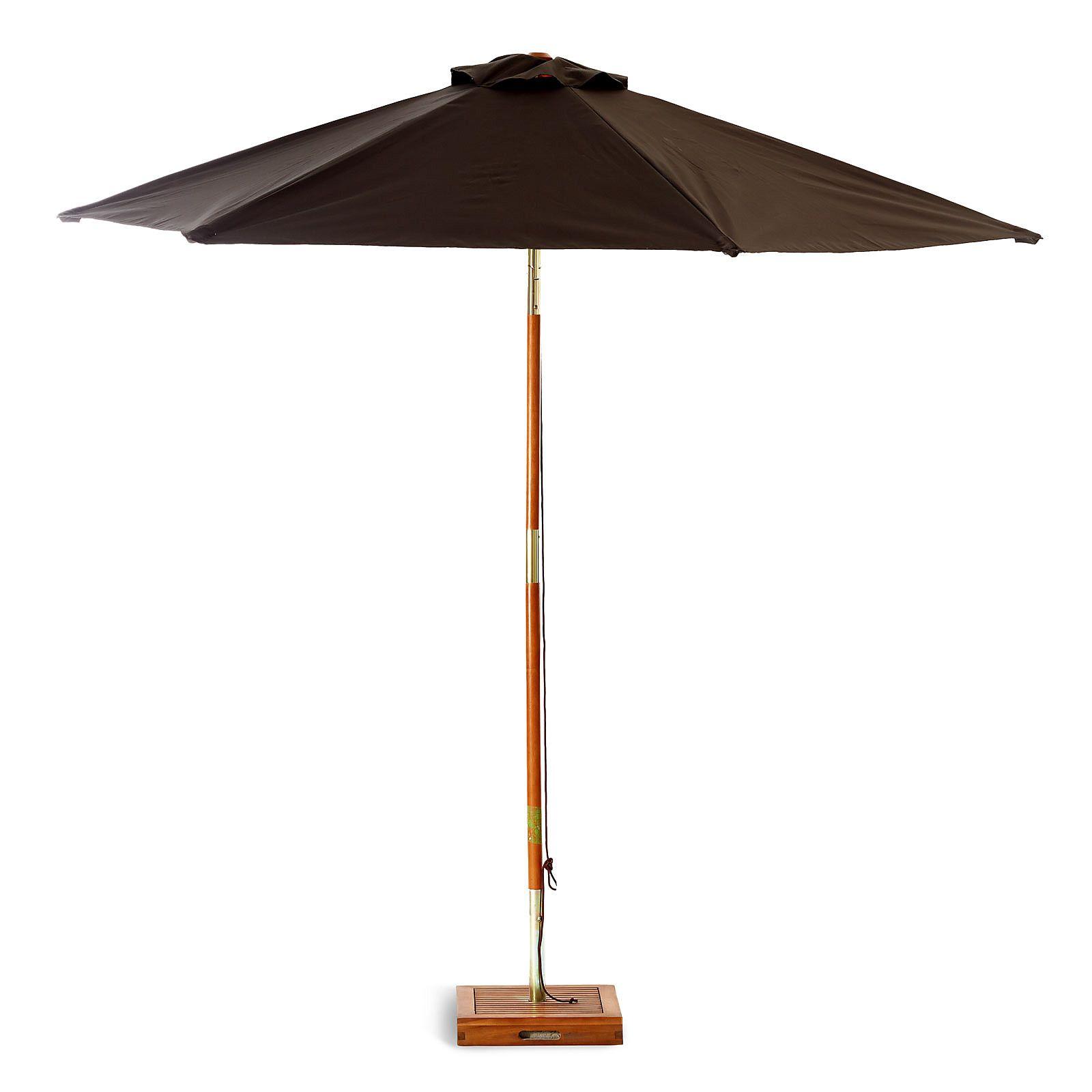 Sonnenschirm Ohne Schirmstander Akazienholz Dunkelgrau Ca D 250